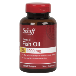 Omega 3 fish oil 1000 mg 100 softgels made by schiff for Fish odor syndrome natural remedies