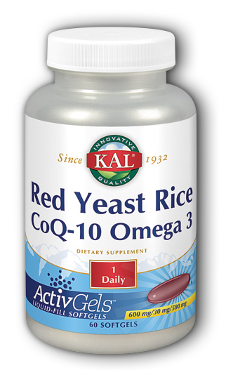 Red yeast rice coq10 omega 3 600 30 500 mg activgels 60 for Coq10 and fish oil