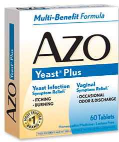 Azo yeast 60 tabs - Natural douche for yeast infection ...