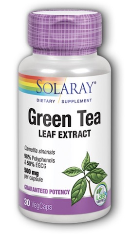 Green Tea 500 mg Double Strength 30 Vcaps , made by solaray