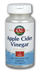 How many mg of apple cider vinegar daily